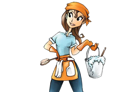 Cleaning Lady Clipart.