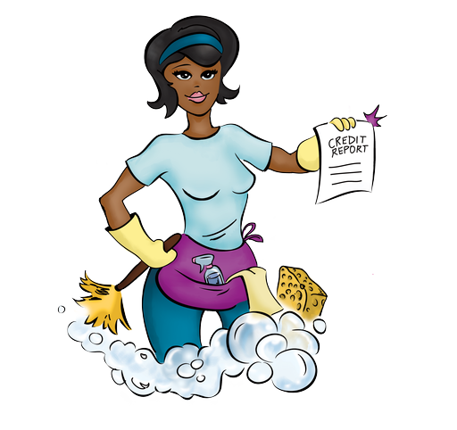 Vector Cleaning Lady Clipart.