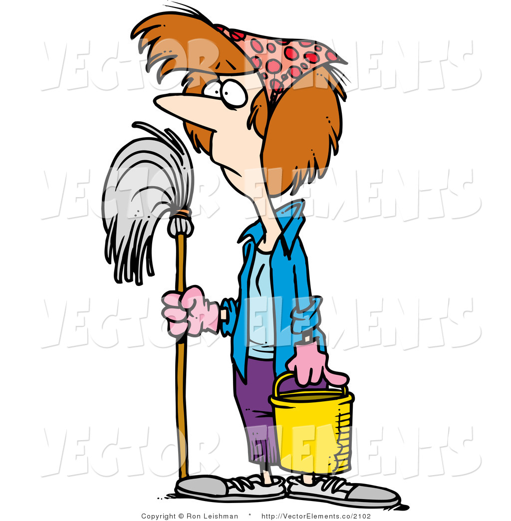 Cleaning Clip Art Maid.