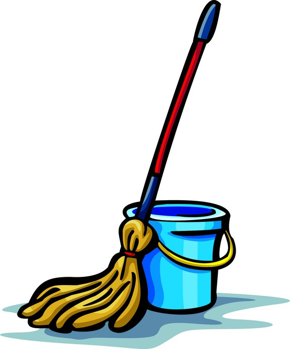 Clip Art Of Cleaning Mops Clipart.