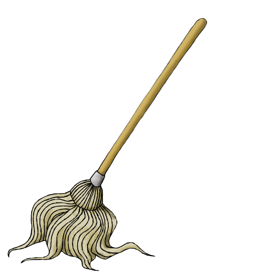 Black and white mop clipart my cute graphics.
