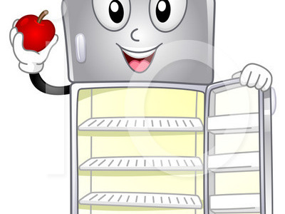 cleaning out refrigerator clipart #11