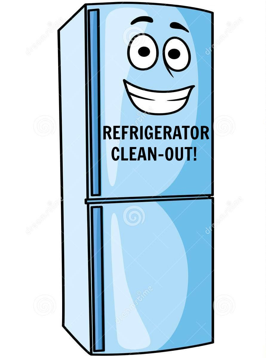 Clean Fridge Clipart.