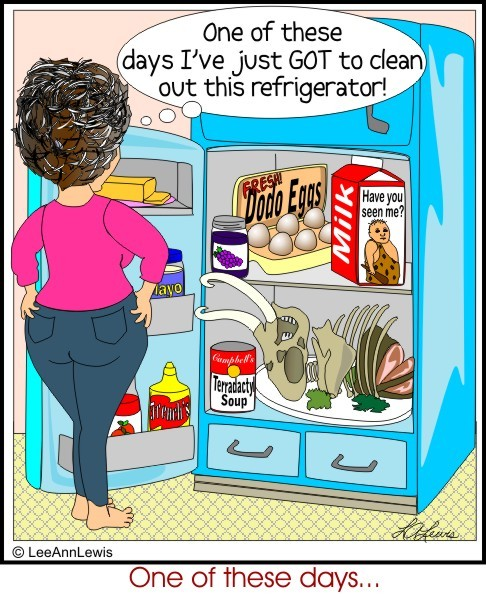 Refrigerator Cleanout Clipart.