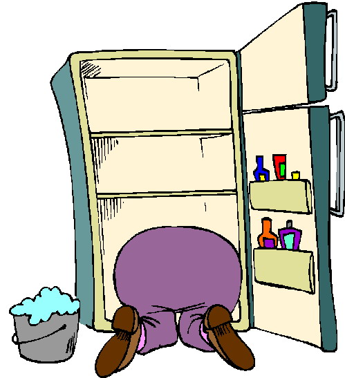cleaning out refrigerator clipart #7