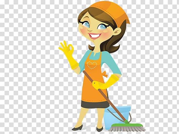 Housekeeping Cleaner Cleaning Domestic worker, cartoon.