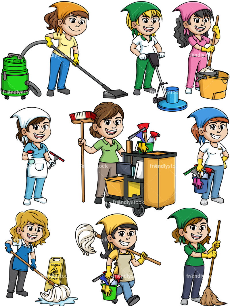 Female Cleaning Professionals Collection.
