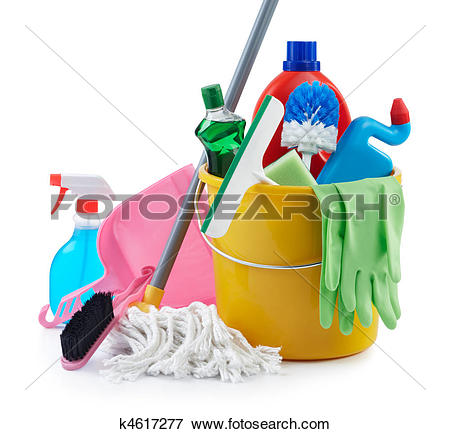 Picture of group of cleaning products k4617277.