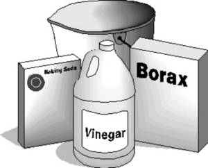 Clipart Picture of Cleaning Products.
