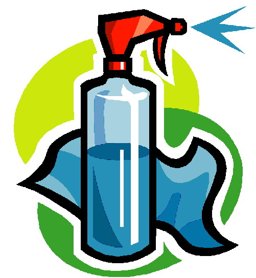 Cleaning Products Clipart.