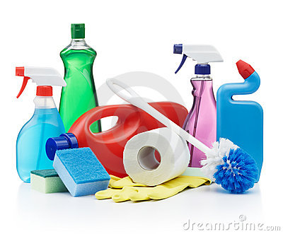 Household Cleaning Items Clipart.