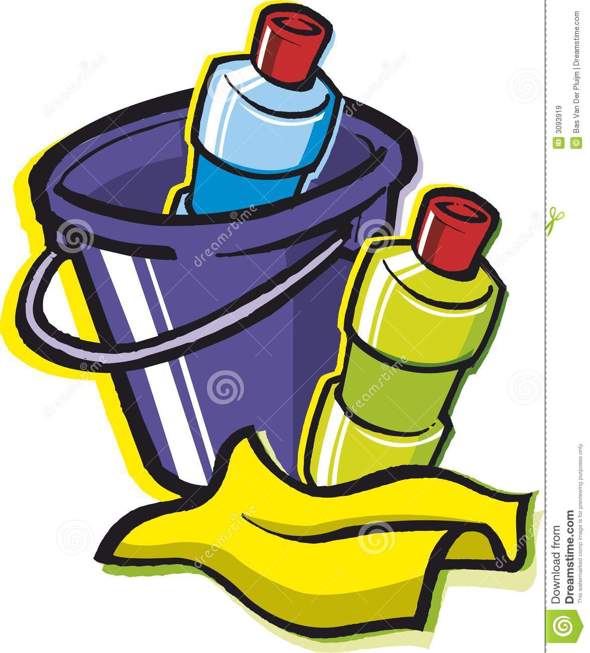Cleaning Supplies Clipart.