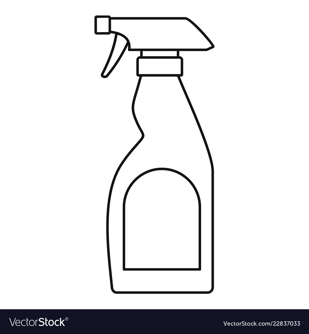 Cleaning bottle spray icon outline style.