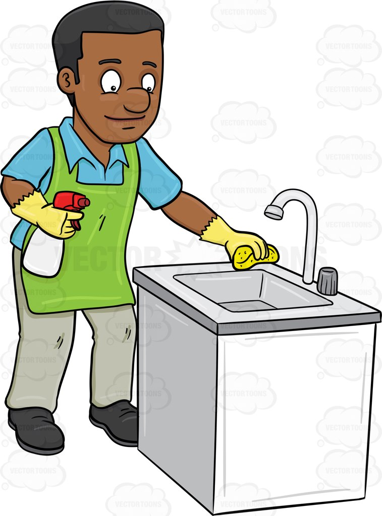 Clean The Kitchen Clipart.