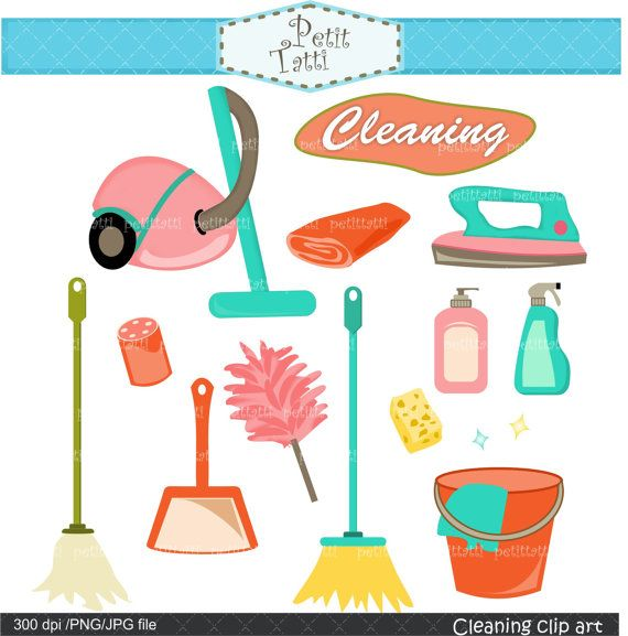 Cleaning Tools Clip Art , Household Clip Art, Broom Clip Art, Mop.