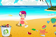 Beach cleanup clipart.