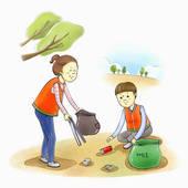 Beach clean up clip art.