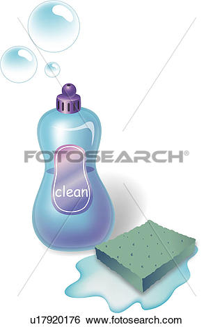 Clip Art of kitchenutensils, kitchen, cleaning, water, object.
