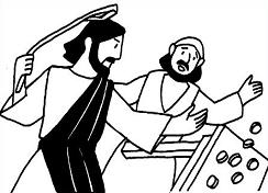 Free Jesus Cleansing the Temple clipart.
