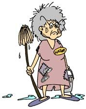 Cleaning Girl Clip Art.