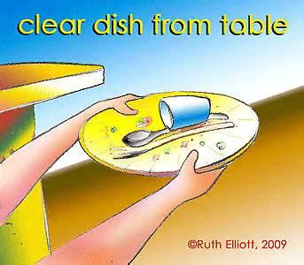Kid clear table clipart.