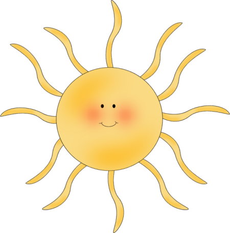 Clipart cute sunshine with clear background.