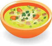 Clipart of Noodle soup k8385642.