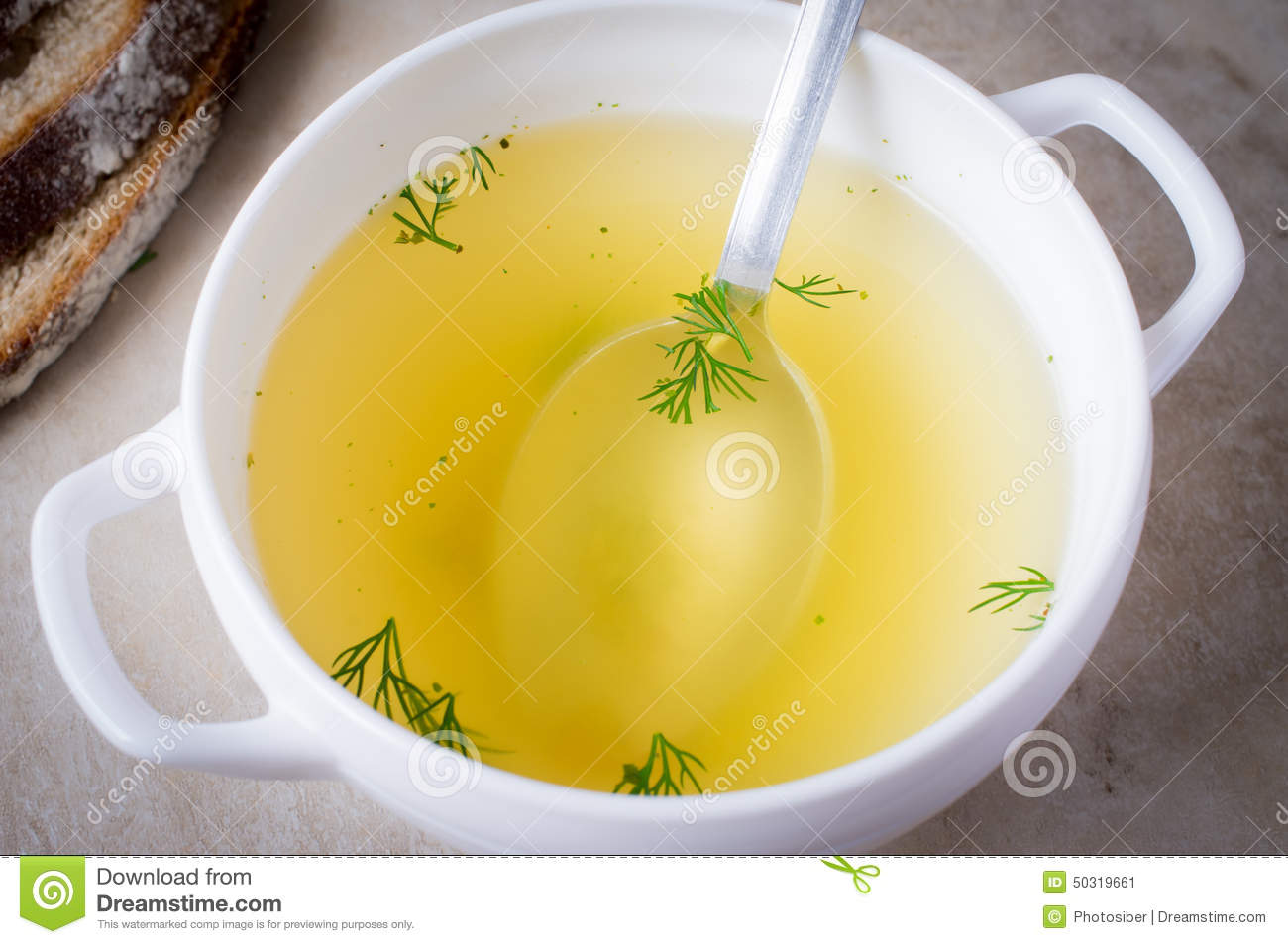 Bouillon, Broth, Clear Soup Stock Photo.