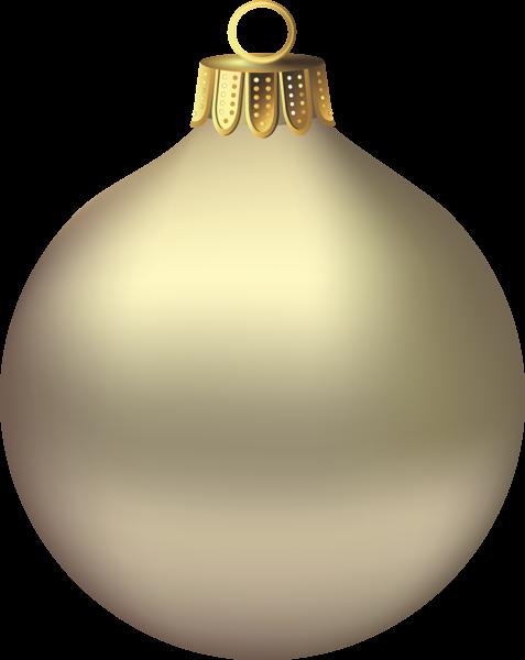 Transparent Christmas Gold Ornament Clipart.