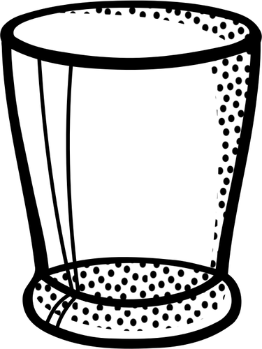 Vector illustration of clear glass water glass.