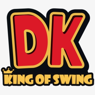 Donkey Kong King Of Swing Clear Logo , Transparent Cartoon.