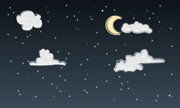Clear Skies And Moon Clipart.