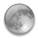 Clear Night Weather Icon, PNG ClipArt Image.