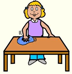 Clean Off Table Clipart.