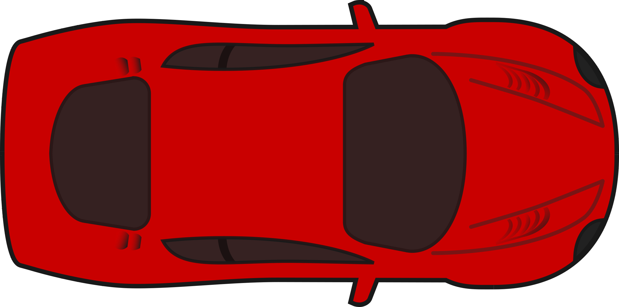 Red racecar transparent background clipart.