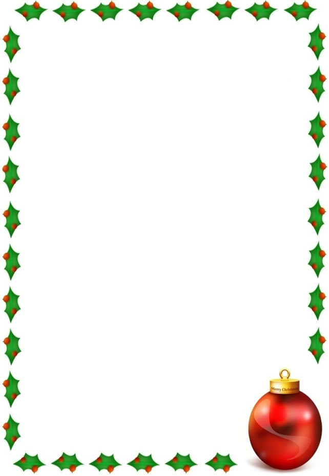 free christmas clipart borders for word #17