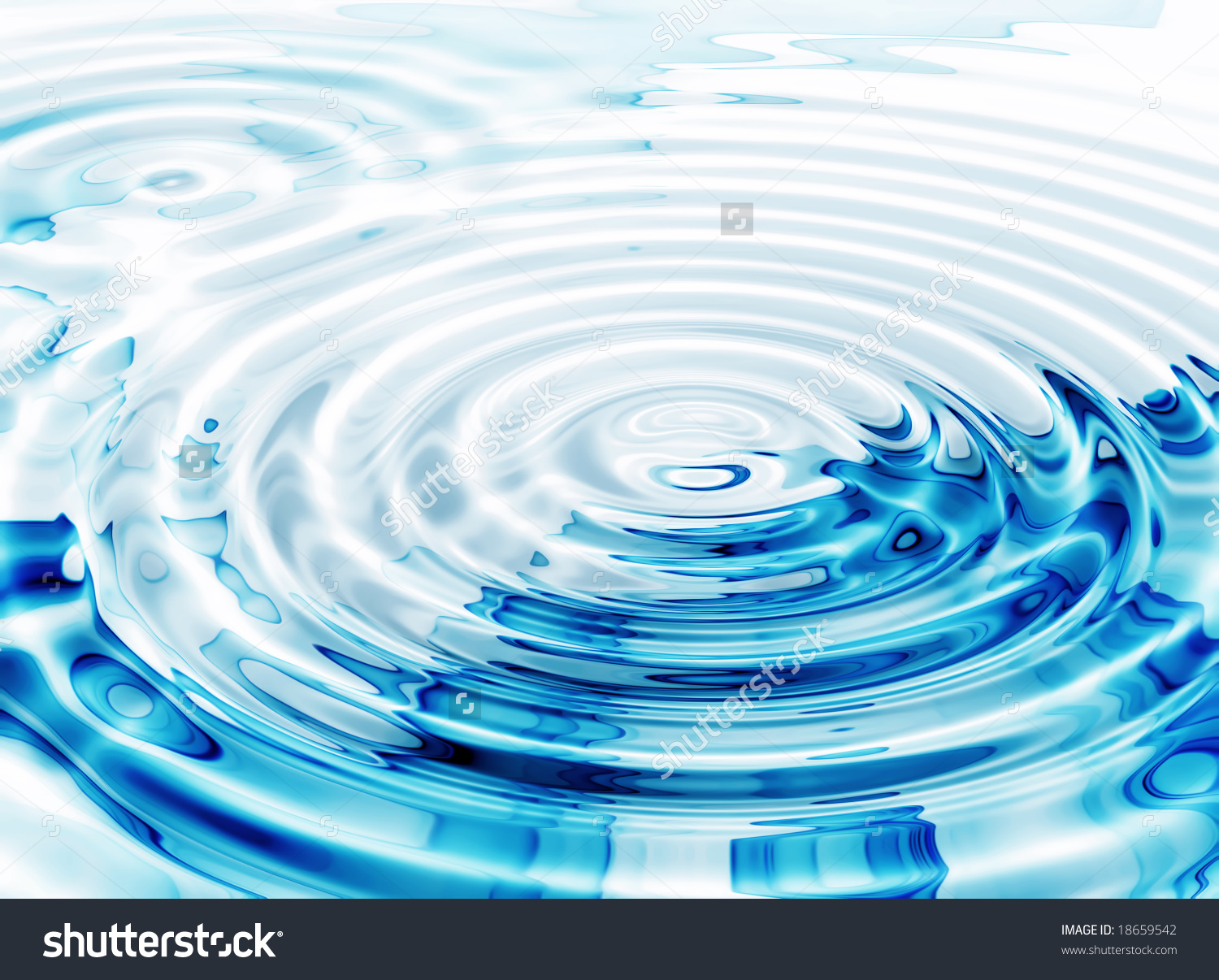 Illustration Crystal Clear Water Ripples Stock Illustration.