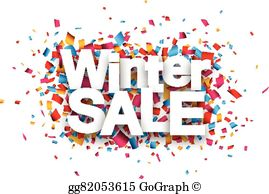 Winter Clearance Sale Clip Art.