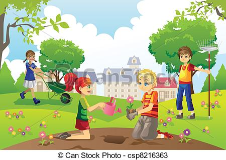 Yard Clearing Clip Art.