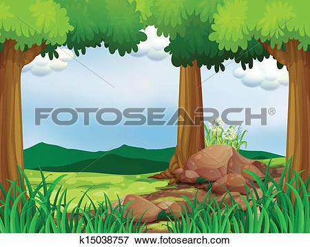 Forest clearing Clip Art Vector Graphics. 926 forest clearing EPS.