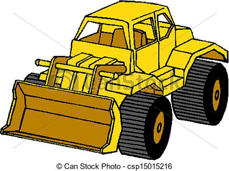 Vector Clip Art of Snow Plough Clearing csp15015216.