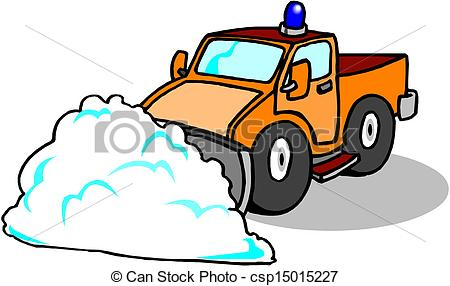 Vector Illustration of Snow Plough Clearing csp15015227.
