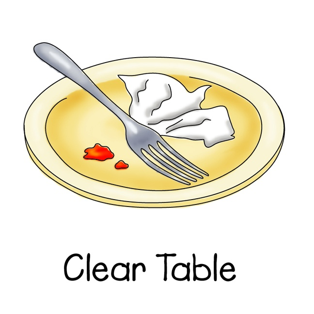 Clearing table clipart.