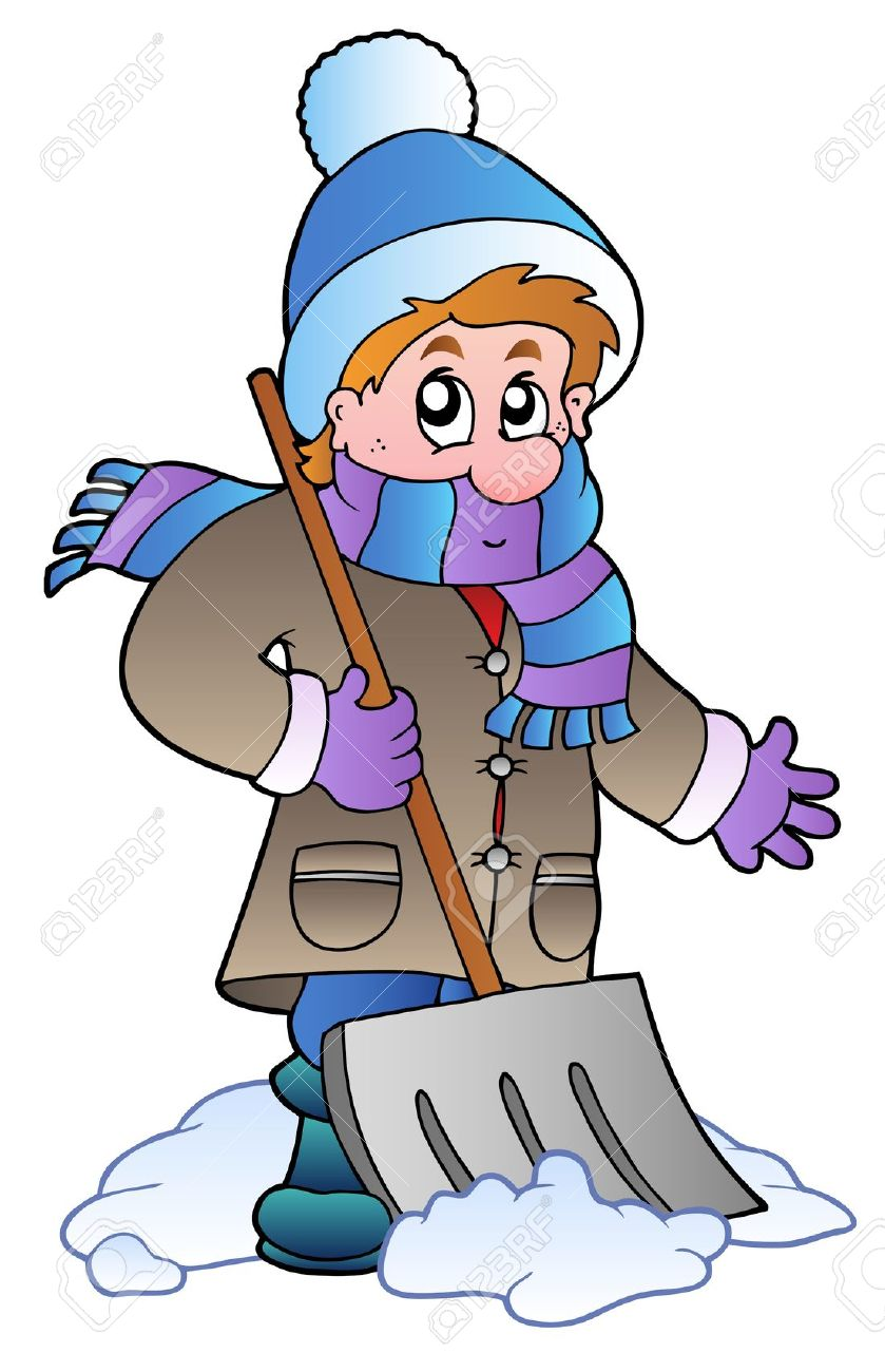 clipart woman shoveling snow - Clipground