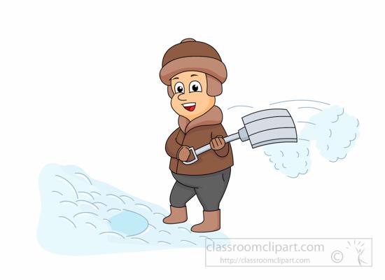 shoveling snow clipart free - photo #47