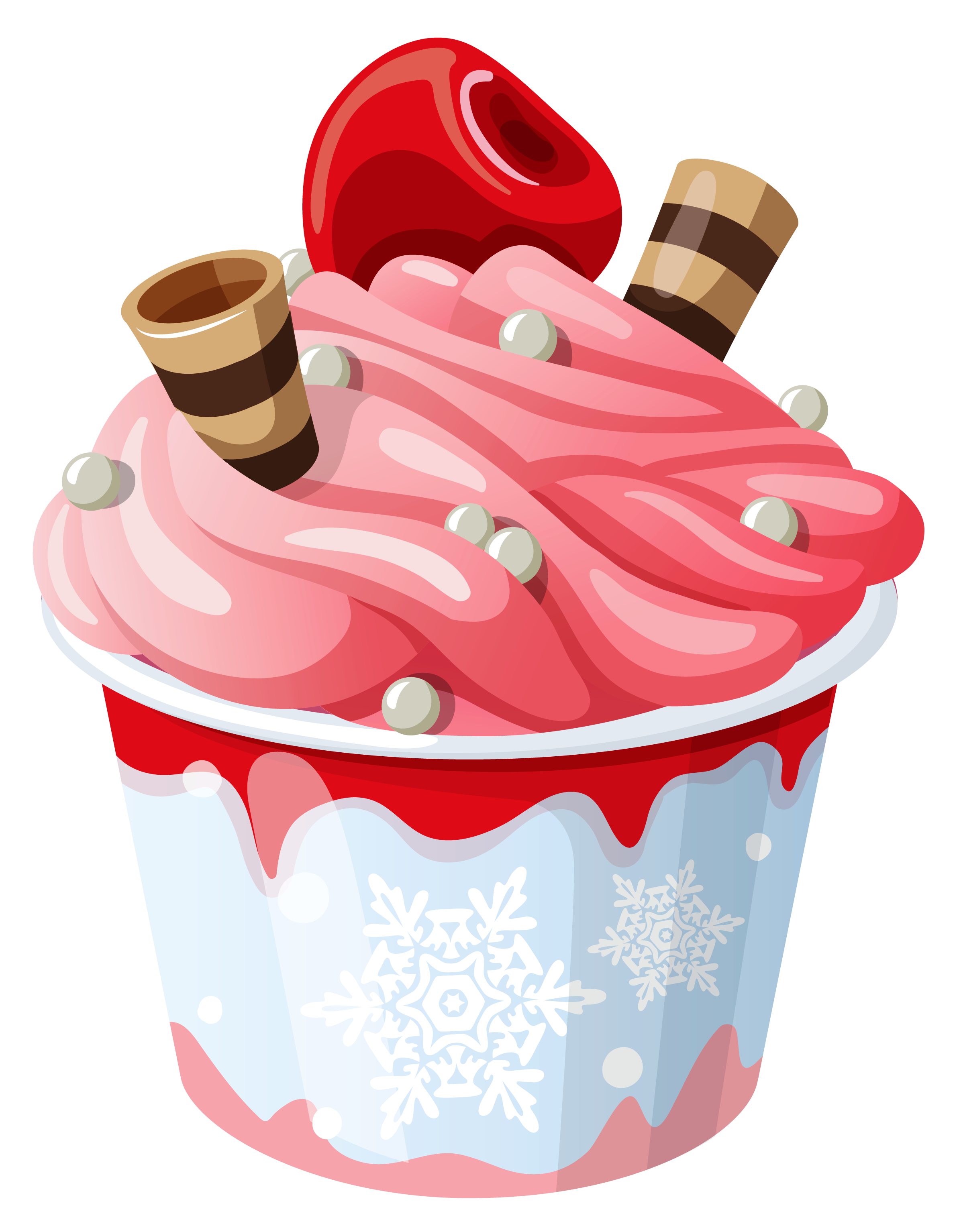 Ice Cream Cup PNG Clipart Picture.