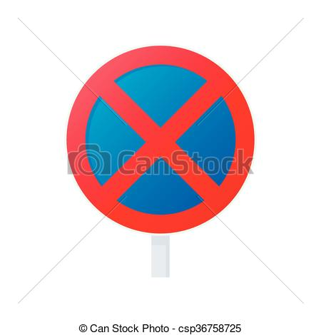 Vector Illustration of Clearway sign icon, cartoon style.