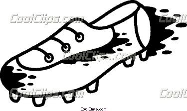 soccer cleat clip art stock vector soccer shoes the ball #12336088.