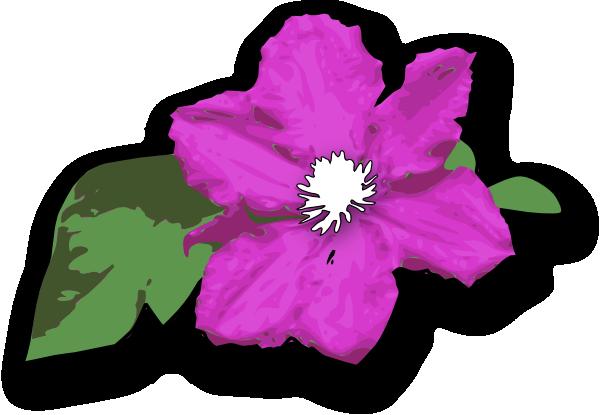 Purple Clematis Clip Art at Clker.com.