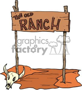 The old Ranch wooden sign.